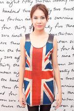 QUEEN British Union Jack Flag POP ART UK o WOMEN T-SHIRT Tank TOP Dress Size S M