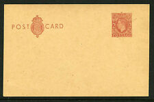 1951-3 2d RED BROWN KGVI POSTAL STATIONERY POSTCARD. CP104a