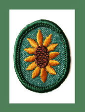 SUNFLOWER Girl Scout TROOP CREST 1955 Merrow Edge Retired in 1963 Badge NEW