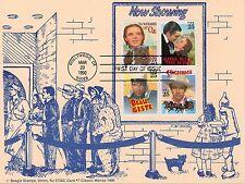 FDC Maximum card Sc# 2445-48 Garland Gable & Leigh Cooper John Wayne 1990 Card#7
