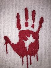 Embroidered 100% Cotton Kitchen Bar HAND TOWEL BS0305R BLOODY HAND PRINT ZOMBIE