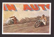 Dirt Track Motorcycle Racing Vintage 1932 Sanella Sports Card B