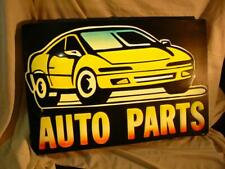 Vintage Lighted Electric AUTO PARTS Lg Display sign 37x 25 x 4 inch  Good Color