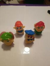 Vintage 80's Lot of 4 Gloworm Glow Worm Glo Friends Finger Puppets Figures
