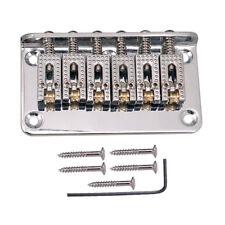 1 set guitarra eléctrica rodillo silla de montar cordal scew llave de plata
