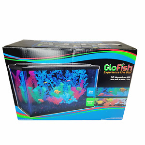 Glofish 5 Gallon Aquarium Kit Fish Tank LED Light Hood & Filter Manual