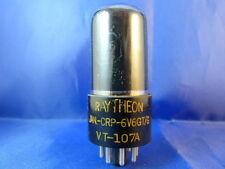 6v6gt/g Raytheon/RCA # NOS # Dark Smoked Glass # Jan # bottom-D-magnetiche (8428)