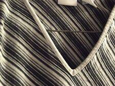 small maternity top induetime 76% cotton EUC black gray stripes long sleeve diag