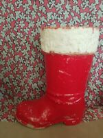 Vintage 1940s Paper Mache Made In Germany LARGE Santa Boot RARE SIZE!