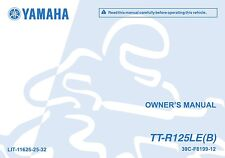 Yamaha Tt-R125 Le(B) 2011 Owners Manual, Free Shipping