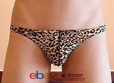 BRAND NEW Men Boy Underwear Backless Brief Short Pants Hip Leopard Skin SIZE L.