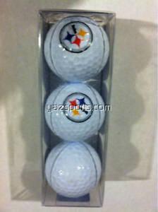 Pittsburgh Steelers 3 Golf Ball Sleeve