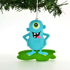 PERSONALIZED CHRISTMAS ORNAMENT-ADORABLE BLUE MONSTER