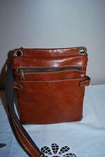 Patricia Nash Italian Leather Crossbody Handbag Shoulder Purse Brown ~ EUC