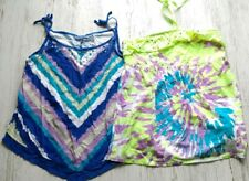 Justice Girls 18 Tank Top Lot NWOT Summer Tie Dye Jewels Sequins Multi Colored