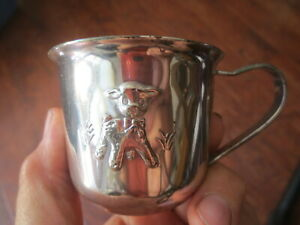 PRINCESS HOUSE SILVERPLATE BABY SIPPY CUP Lamb Motif NO LID