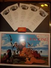 Disney The Lion King (5) Tickets Private Screening 1994 Chicago-Ears & Eyes-Pin