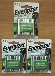 Energizer AA ACCU Rechargeable Batteries, Power Plus, PreCharged NiMH 2000mAh