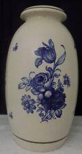 Vintage SCHEURICH-KERAMIK W.GERMANY 226-48 white & blue flower Large FLOOR VASE