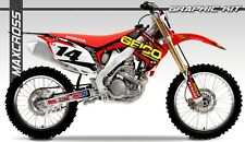 HONDA CRF250R 2010-2013 CRF450R 2009-2012 MAXCROSS GRAPHICS KIT DECALS KIT #08