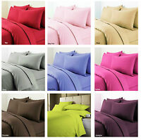 Plain Dyed Duvet Cover + Pillow Cases Quilt Cover Bed Set Single, Double & King