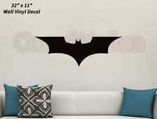 "Dark Knight Wall Decal Removable BLACK Vinyl Batman Bruce Wayne 32"" x 11"""