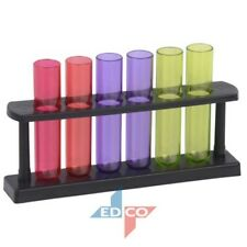 Plastic shot test tubes,party shooter glass multi coloured Shot Glass & stand