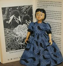 Hitty dress.Crows Everywhere Dress.Dolls/C lothes/Hitty/Wooden