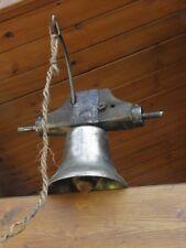 ANTIQUE CLOCHE BRONZE D'ÉCOLE CHATEAU CHAPELLE XIXe bell CHURCH SCHOOLHOUSE old