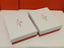 """Kate Spade Small Jewelry Gift Box 5.5"""" x 4.25"""" x 1.75"""" Brand NEW Lot Of 2"""