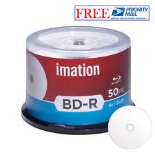 50 Imation BD-R 6X 25GB Blu-ray White Inkjet Hub Printable Recordable Blank Disc