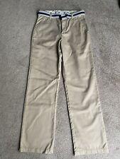 Gymboree Boys Uniform Shop Size 10 Slim Khaki Pants Nwot navy And White Belt