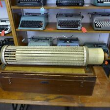 THATCHER CYLINDRICAL CIRCULAR SLIDE RULE WITH MAHOGANY CASE AND INSTRUCTION BOOK