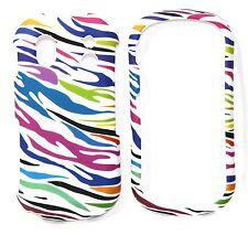 For Samsung Intensity 2 U460 Rubberized Design Hard Cover Case Colorful Zebra