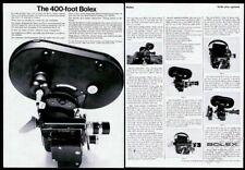 1967 Bolex Rex-5 H-16 M-5 movie camera with 400' magazine photo vintage print ad
