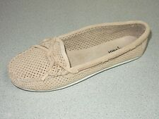 "MINNETONKA   ""LISA""   Stone  LEATHER MOCCASIN SHOES   WOMEN  US 11 EURO 42   NEW"