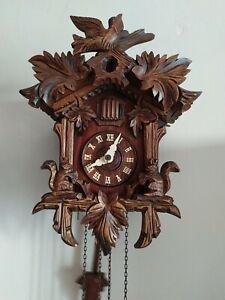 Orologio cucù meccanico Scoiattoli (Perfettamente Funzionante)