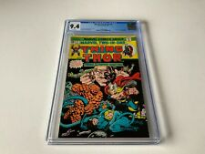 MARVEL TWO IN ONE CGC 9.4 WHITE PAGES THOR FF THING MARVEL COMICS 1975