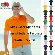 5er/10er Fruit of the Loom T-Shirt Herren Shirts Valueweight Sets Tshirt +SALE+