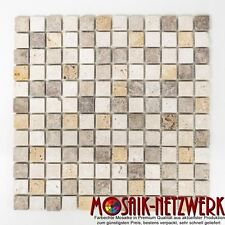 Mosaik Fliese Travertin Mix Tumbled Wand Boden  Bad WC Art: 43-46380_b | 1 Matte