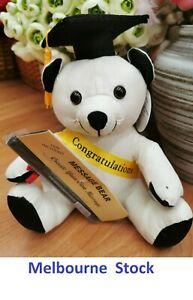 Congratulations Graduation Bear With Pen 22cm Graduation Signature Message Gift