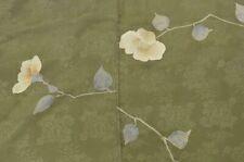 @Japanese Vintage Kimono / silk / Women 62.2inc./ Green 3nfuji31404