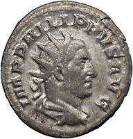 Philip I the Arab 244AD Rare Silver Ancient Roman Coin Four standards  i48203