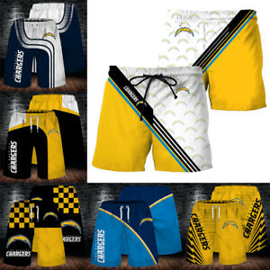Los Angeles Chargers Men Beach Shorts Casual Swim Trunks Summer Surf Board Pants