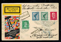 1938 Frankfurt Germany First Flight Cover FFC to Paris France