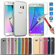 Ultra Clear Gel Case Cover & Tempered Glass for Samsung Galaxy J3 / J5 2016 2017