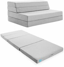 LUCID 4 Inch Folding Mattress Full, Portable Guest Futon Foam Bed Fold, Sofa Cot