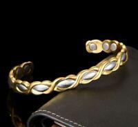 18K Armkette Armreif Goldkette 17-23cm Königskette 10MM Herren Damen vergoldet