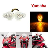 "1"" Clear LED Flush Mount Turn Signals Indicator For Yamaha XJ6 MT-03 FZ8 FAZER"