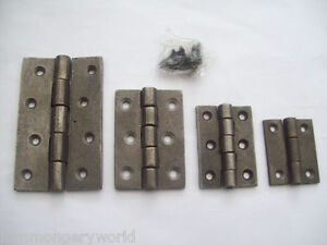 1 X Antique Cast Iron Butt Door Gate Cabinet Cupboard Hinges